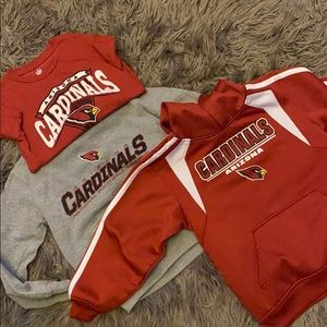 Boys size 8 Arizona Cardinals Hoodies and shirt